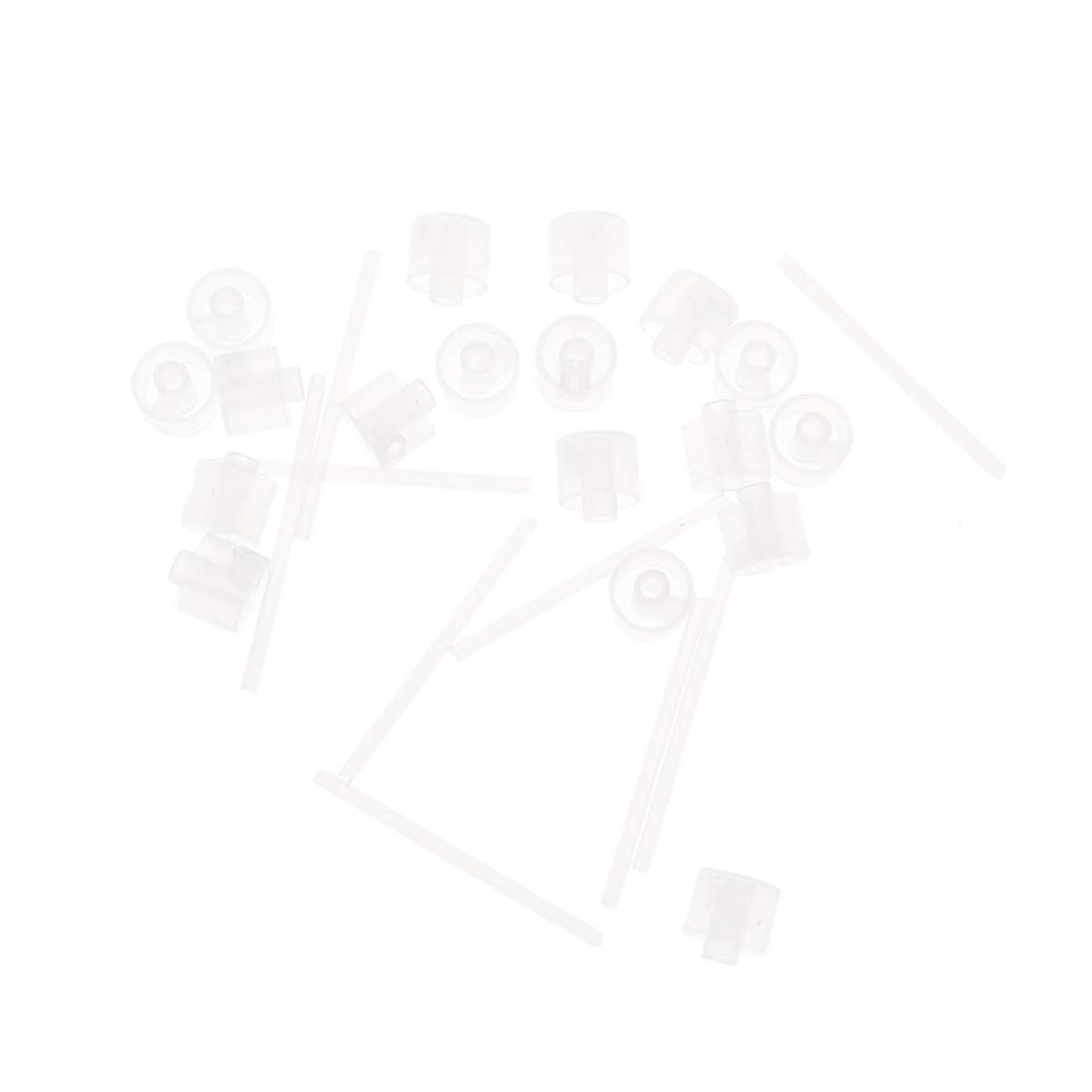 回復クローンジャーナリストLurrose 20ピースプラスチック香水ポンプディスペンサー香水ディスペンサーツール