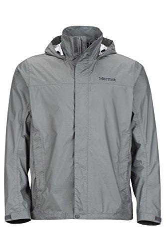 Marmot PreCip Men's Lightweight Waterproof Rain Jacket, Gargoyle, X-Large