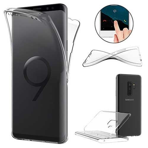 XCYYOO Funda para Samsung Galaxy S9 Plus Silicona,Carcasas para Samsung Galaxy S9 Plus, [Carcasa Protectora 360 Grados Full Body]e Suave Ultrafina Gel Silicona TPU Anti-Arañazos Protectora Case