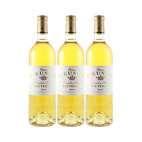 Château Rieussec Les carmes de Rieussec Weißwein 2010 - g.U. Sauternes süßer - Bordeaux Frankreich - Rebsorte Sauvignon Blanc, Sémillon, Muscadelle - 3x75cl