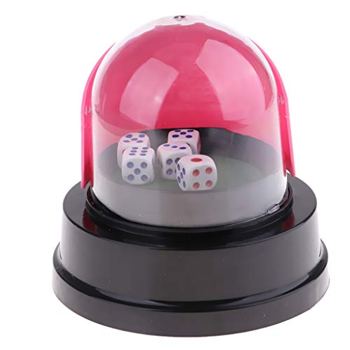 SM SunniMix Elektrisch Glückszahl Maschine Lotterie Bingo Spiel Würfelmaschine mit Würfelset