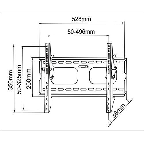 Soporte de pared para TV / monitor en negro inclinable 12° para LG 32