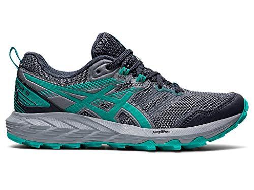 ASICS Women's Gel-Sonoma 6 Running Shoes, 11.5M, Carrier Grey/Baltic Jewel