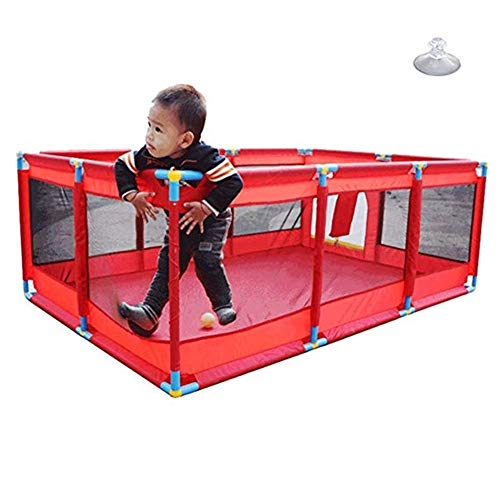 Big Save! Zxwzzz Indoor/Outdoor Portable 10 Panel Baby Play Fence, Toddler Anti-Slip Safety Playgrou...