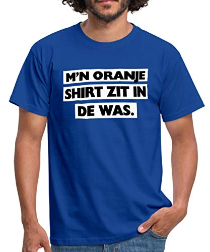 Spreadshirt M'n Oranje Shirt Zit In De Was Koningsdag Mannen T-shirt