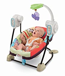 Fisher-Price SpaceSaver Swing & Seat - Portable Infant Swing