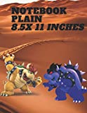 Plain Notebook 8.5 x 11 inches: nintendo switch games for kids 8-12playstation 4 controllers