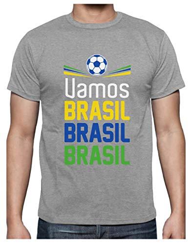 Green Turtle T-Shirts Camiseta para Hombre - Apoya la Selección Brasil en el Mundial de Rusia 2018! Large Gris