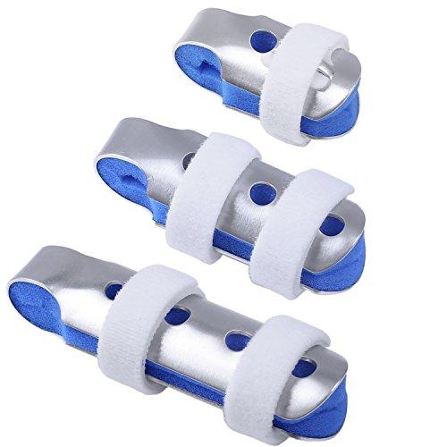 HEPHEAS Finger Schiene Splints: 3 Packungen Finger Ruhigstell-Schiene mit Weichem Schaumstoff für Finger Frakturen Wunden