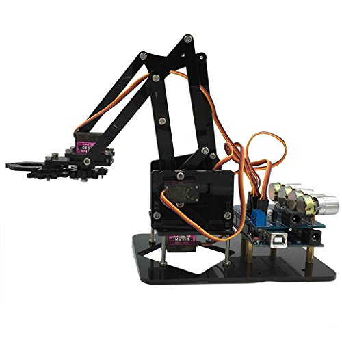 Perfeclan DIY Robot Kit - Robotic Arm Build Kits for Arduino Programmable Robot Kit for Kids Learn Coding, Robotics and Electronics