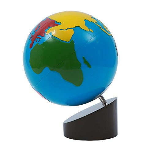 Montessori Science and Cultural Geography Materials Continental Globe and Sandpaper Globe Early Education Teaching aids Wooden Toys (Globe - World Parts)