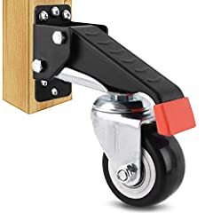 ➤ IMPROVED VERSION - The workbench caster kit uses thicker steel, stronger screws, three holes on the top and the bottom of the plate, better wheels and bearings. Add rubber sleeve to protect contact part between human body and the caster, new design...