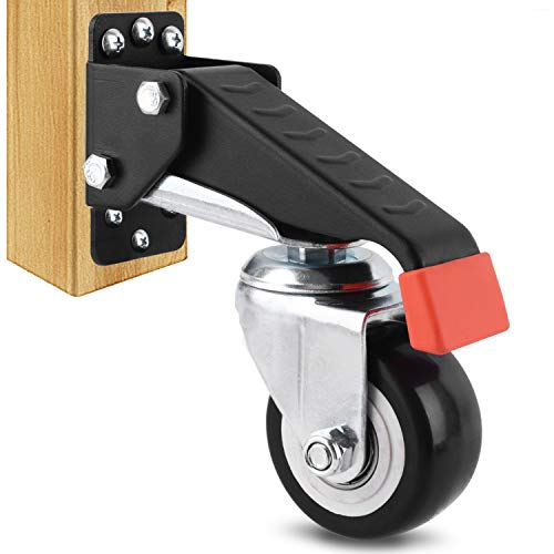 SPACEKEEPER Workbench Casters kit 660 Lbs - 4 Heavy Duty Retractable Caster Designed for Workbenches Machinery & Tables