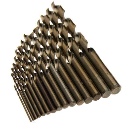 YINGGEXU Taladro Fixmee 15 /Juegos 1.5-10mm M35 de Alta Velocidad Broca helicoidal de Acero de Cobalto HSS-CO 40-133mm Longwood de Metal Pozo Clase de Calidad