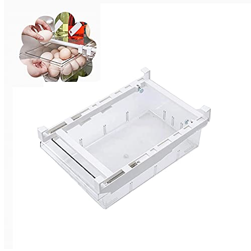 Wuudi Organizadores de Frigorífico Caja de Almacenamiento de Cajón Contenedor Transparente para Congelador (1 Pack)