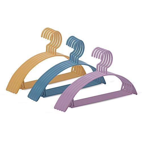 No/Brand Keilafu Comprar Perchas, Perchas Bebe pequeñas, 12 Perchas Coloridas de Hombro Ancho semicírculo sin Costuras, 40,5 cm Creativas Perchas de plástico de Secado Antideslizante