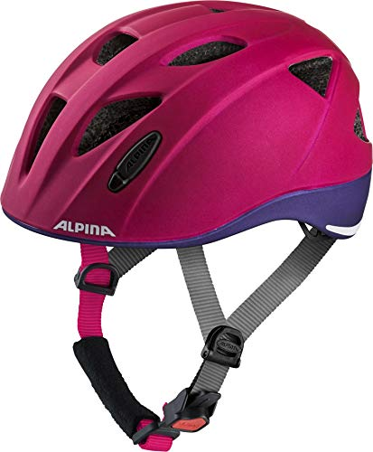 ALPINA Unisex - Kinder, XIMO LE Fahrradhelm, deeprose-violet matt, 49-54 cm