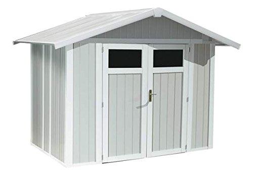 Caseta de jardín PVC, Utility 5 m², color azul: Amazon.es: Hogar