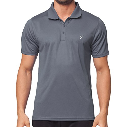 CFLEX Herren Sport Shirt Fitness Polo-Shirt Sportswear Collection - Grau L