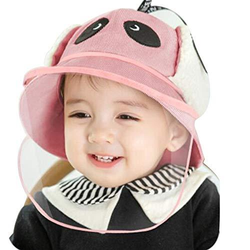 oupai Sombreros Gorras Sombrero para niños, Invierno Cálido Bebé Sombreros Niños Punto de Punto Paño Folleto Forro Sombrero Sombrero para Niñas Niños Niños (Color : Pink, Size : 1-2 Years)