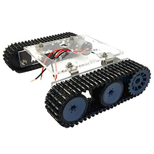 B Blesiya Acryl Clever Roboter DC9-12V Kesselwagen-Chassis mit Raupenkette für Arduino-Bausätze Wissenschaft Spielzeug