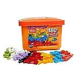 Mega Construx Caja de 480 piezas y bloques de construcción para niños +3 años (Mattel GJD23) ,...