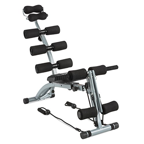 CAPITAL SPORTS Sixish Core Maquina Multitrainer de Vientre con Multifunción, negro