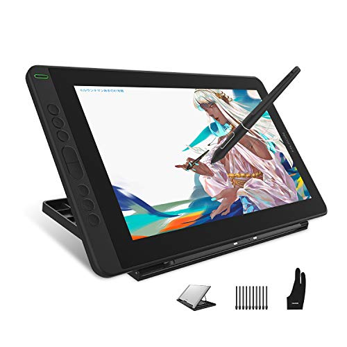 HUION Kamvas 13 Graphic Tablet with Screen, 13.3 Inch Drawing Monitor, Full-laminated Screen, 120% sRGB, Newest Stylus PW517, Support Android Device, Ideal for Working From Home and Remote Learning