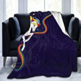 YongColer Extra Soft Rainbow Brite and Starlite Memories Throw Blankets, Sherpa Flannel Travel Blanket Throw Wearable Blankets, Large Blanket for Bed Couch Sofa Chair Dorm, 50'x60'