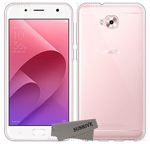 Sunrive Für Asus Zenfone Live Plus ZB553KL 5,5 Zoll Hülle Silikon, Transparent Handyhülle Schutzhülle Etui Hülle Backcover(TPU Kein Bild)+Gratis Universal Eingabestift