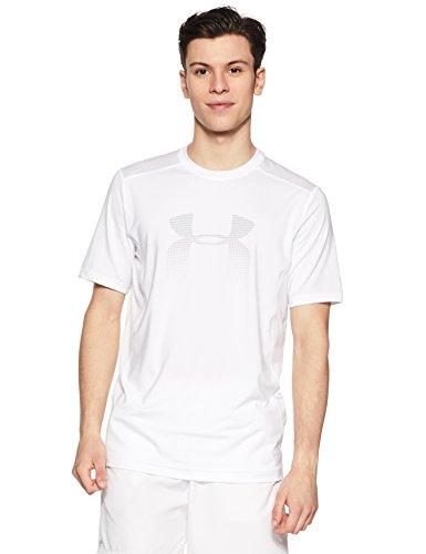 Under Armor Herren T-Shirt Raid Graphic, Herren, Weiß (100)/Overcast Grau, XX-Large