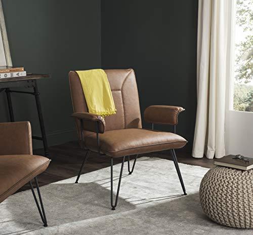 Safavieh Home Johannes Mid-Century Camel Brown Arm Chair