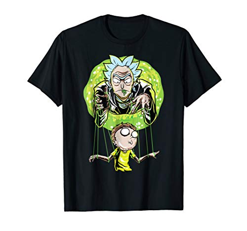 Mademark x Rick and Morty - Rick And Morty Puppet And Space Portal T-Shirt