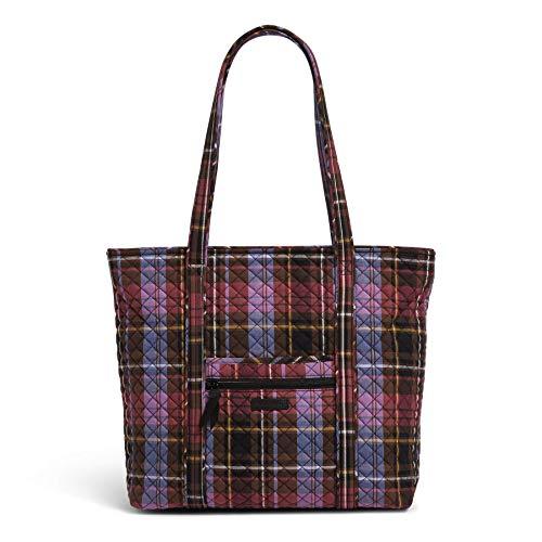 Vera Bradley Women's Signature Cotton Vera Tote Handbag, Cozy Plaid, One Size US