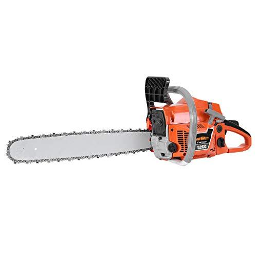 JAWM 20In Bar Gasoline Chainsaw Chain Saw 52cc Engine w/Aluminum Crankcase New for Farm, Garden and Ranch…