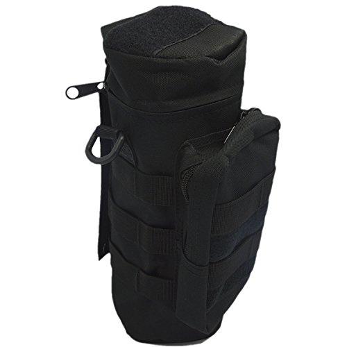 Gosear® Sports de Plein Air Tactical Gear Nylon à Capuche Grande Bouteille d'eau Sac Bouilloire Pack w/Mess Pochette Noir