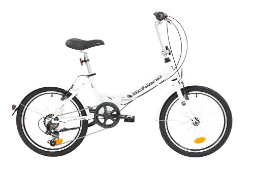 F.lli Schiano Pure Faltbares Fahrrad, Weiß/Schwarz, 20\'\'