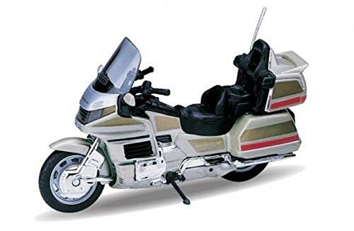 Welly DieCast Modell Motorrad Honda Gold Wing goldfarbend Metall Motorradmodell 1:18