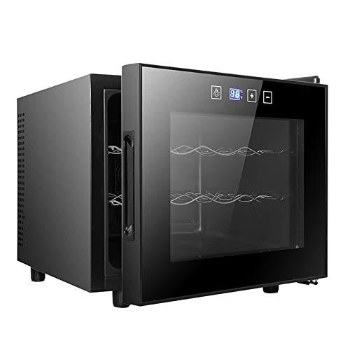 CLING Refrigerador Enfriador Enfriador de encimera Independiente Mini refrigerador Vino Compacto Capacidad para 12 Botellas Control Digital Puerta de Vidrio Enfriada por Aire sin Escarcha Smart Touch