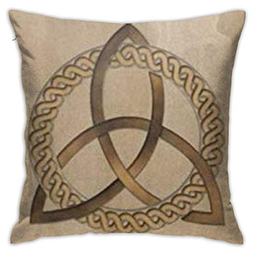 BJfuda Throw Pillow Covers 18x18 Inches,Sofa Square Decorative Throw Pillow Case Celtic Triquetra Trinity Knot
