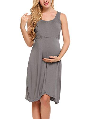 Hotouch dames omstandjurk zomerjurk zwangerschapsjurk maternity jurk bruidsjurk jerseyjurk zomerjurk mouwloos
