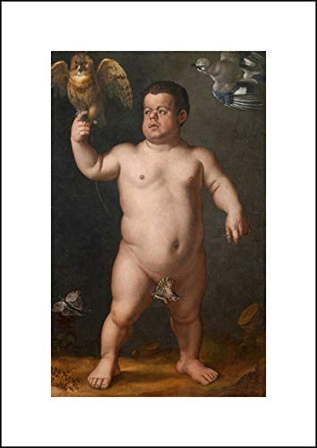 Agnolo Bronzino 14x20 Art Print - Portrait of Nano Morgante