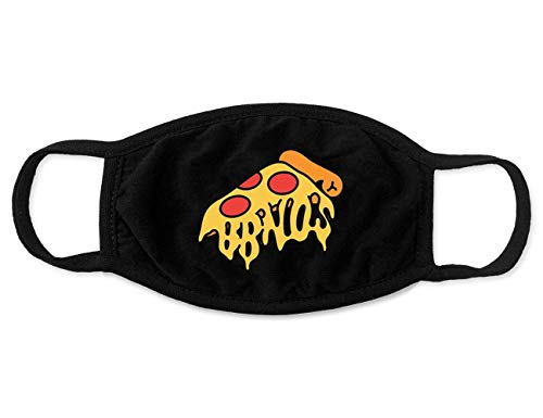 Bbno$ Merch Pizza Face Mask Accesorios Merch for Men Women Youth Breathable Soft Fabric Black