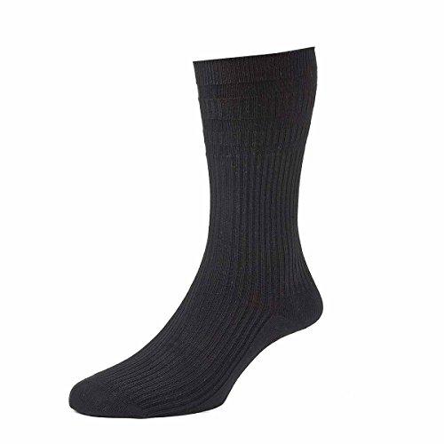 HJ Hall Damen The Original Cotton Softop Socken, Schwarz, 20-24