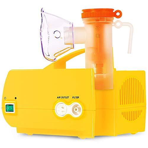 Wh Inhalator/Vernebler Maschine/Kompressor-Vernebler/Inhalator Zerstäuber/nebulizer FüR Kinder und Erwachsene Reise- und Haushaltsgebrauch/Gelb / 19.5x14.5x13.5cm