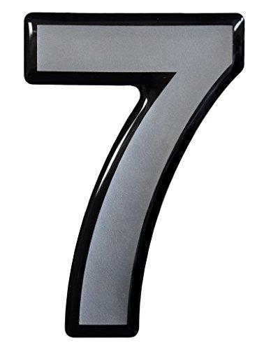 Bike Label Sticker 3D 1x Number 7-900060 Elegant Door Sign Silver