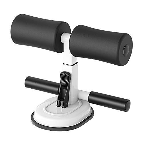 GANZTON Sit-up Trainingsgeräte für Bauch Tragbarer Sit-up Trainer Sit-up Assistent Bar Sit-up Stange für Body Workout Fitness Exerciser(Beide Stange Weiß)