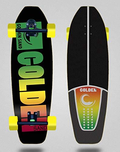 Golden Sand Cruiser 180mm Longboard Trucks Skate Skateboard Degraded Rasta 31.5