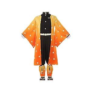 Demon Slayer Cosplay Costume Tanjirou Zenitsu Giyuu Cosplay Kimono Outfit Anime Cosplay Halloween
