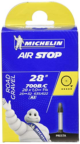 Michelin Uni Airstop Fahrradschlauch, schwarz, 700x25/32C PV, 804152
